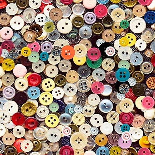 Tela por metros de loneta estampada digital - Half Panamá 100% algodón - Ancho 280 cm - Largo a elección de 50 en 50 cm | Botones de colores: Amazon.es: Hogar