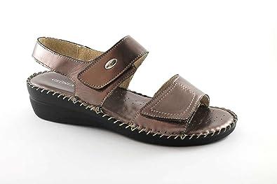 ba8d642a70621 Grünland CERA SA1024 étain 39 Femmes Chaussures Sandales en Cuir consolent  accrocs 35