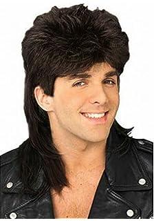 Amazon topcosplay 80s rocking dude wig fancy dress punk diy wig stylish mens retro 70s 80s disco mullet wig fancy party accessory cosplay wig urmus Choice Image