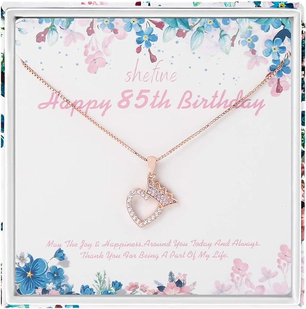 Regalo de 85 cumpleaños para mujer - Corona de plata de ley ...