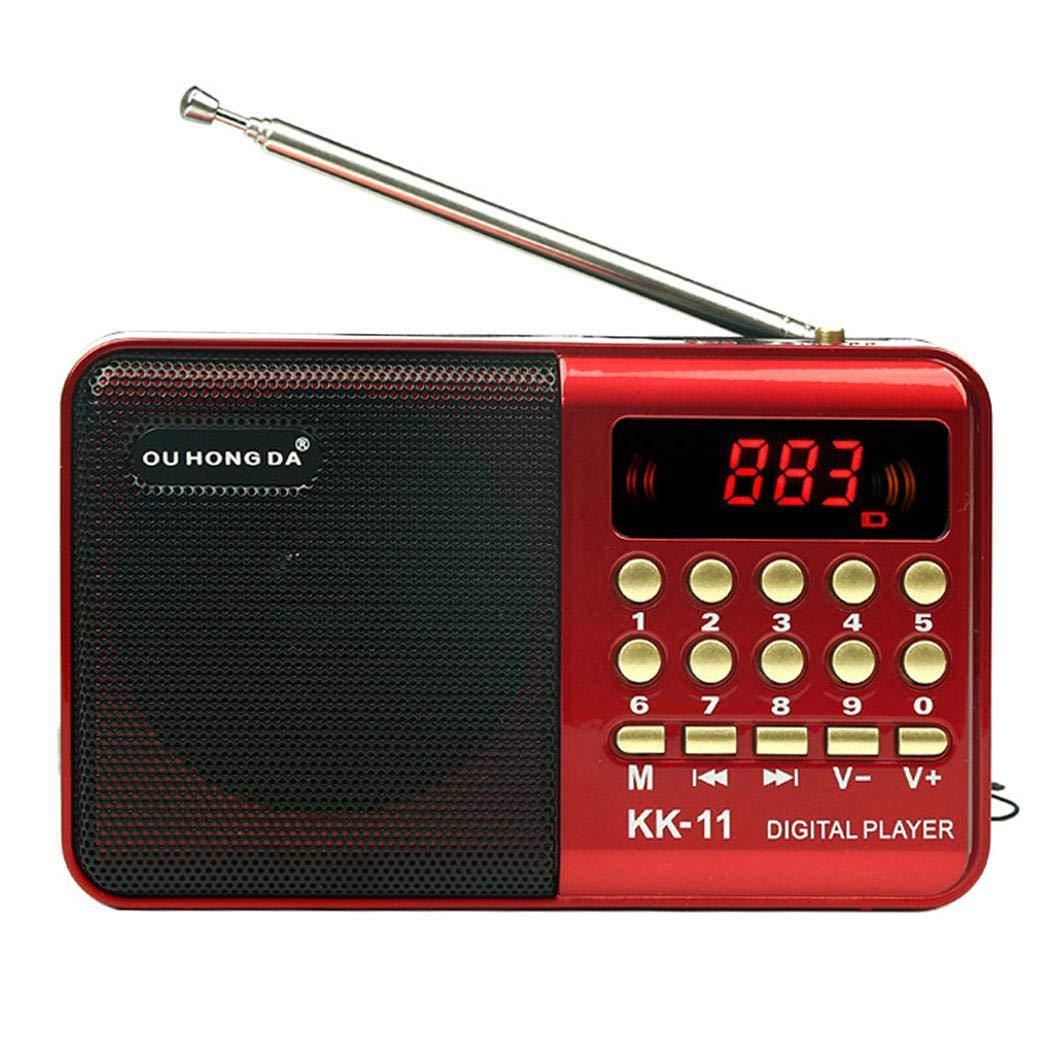 bommon K11 Nouvelle Mini Radio rétro MP3 Carte Portable Multifonctions Portable Radio adaptée au Camping de Plage en Plein air