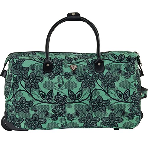 calpak-soho-21-inch-carry-on-rolling-teal-floral-one-size