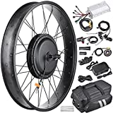 48V 1000W Front Fat Tire Electric Bike eBike Conversion Kit 26''/3 1/4'' Width Rim With Ebook