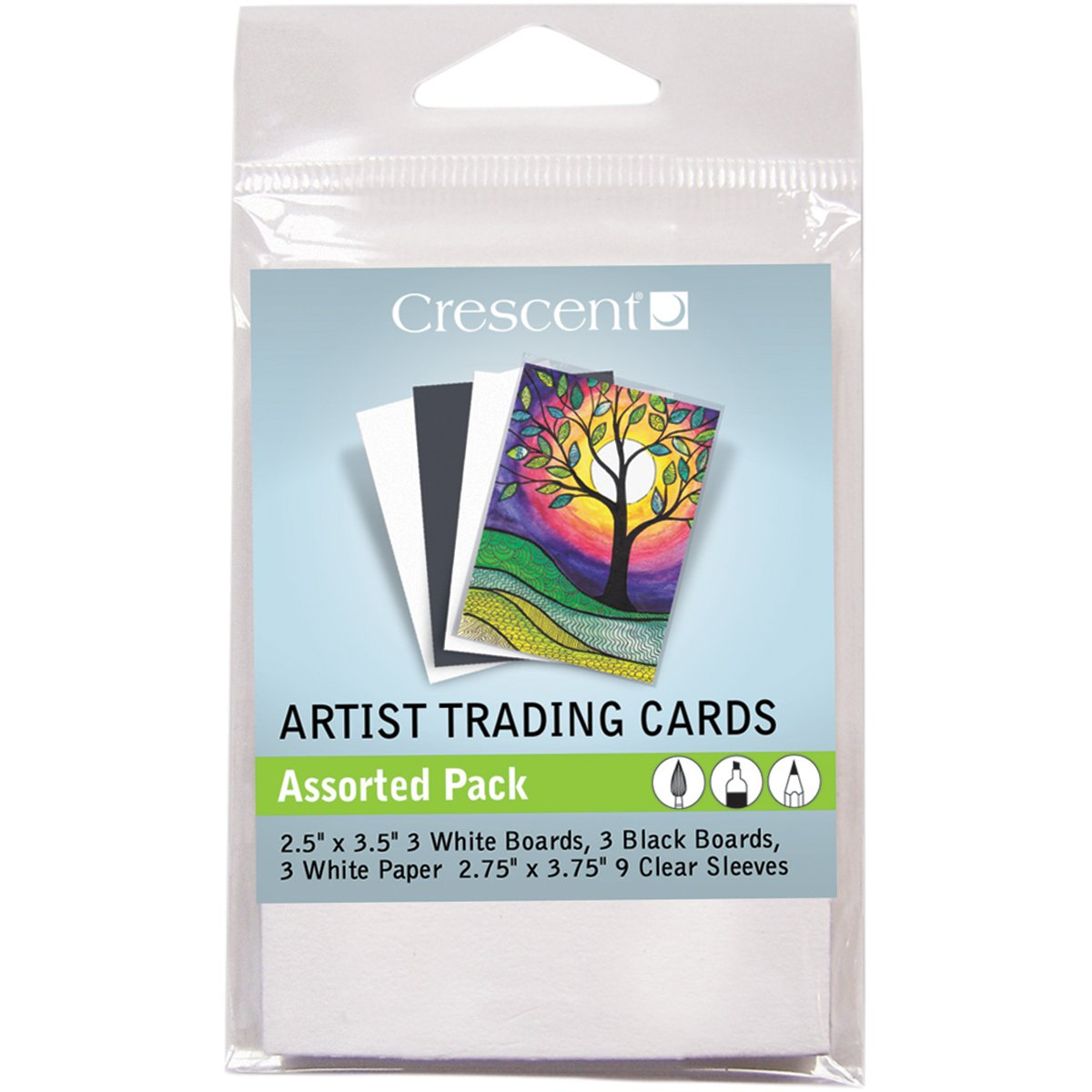 Crescent Cardboard Artist Assorted Trading Cards (18 Pack), 18'