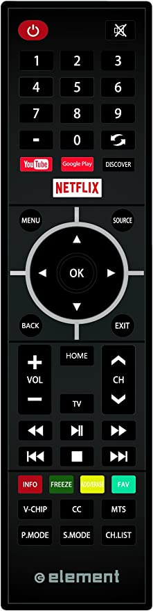 Amazon Com Element Electronics Remote For Element S Smart Tv Model Home Audio Theater