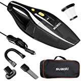 SUAOKI Car Vacuum DC 12V 120W 4000Pa Powerful Suction Wet Dry Portable Handheld Auto Vacuum Cleaner for Car with 16.4FT(5M) Power Cord, 2 HEPA Filters, Carrying Bag (Black)