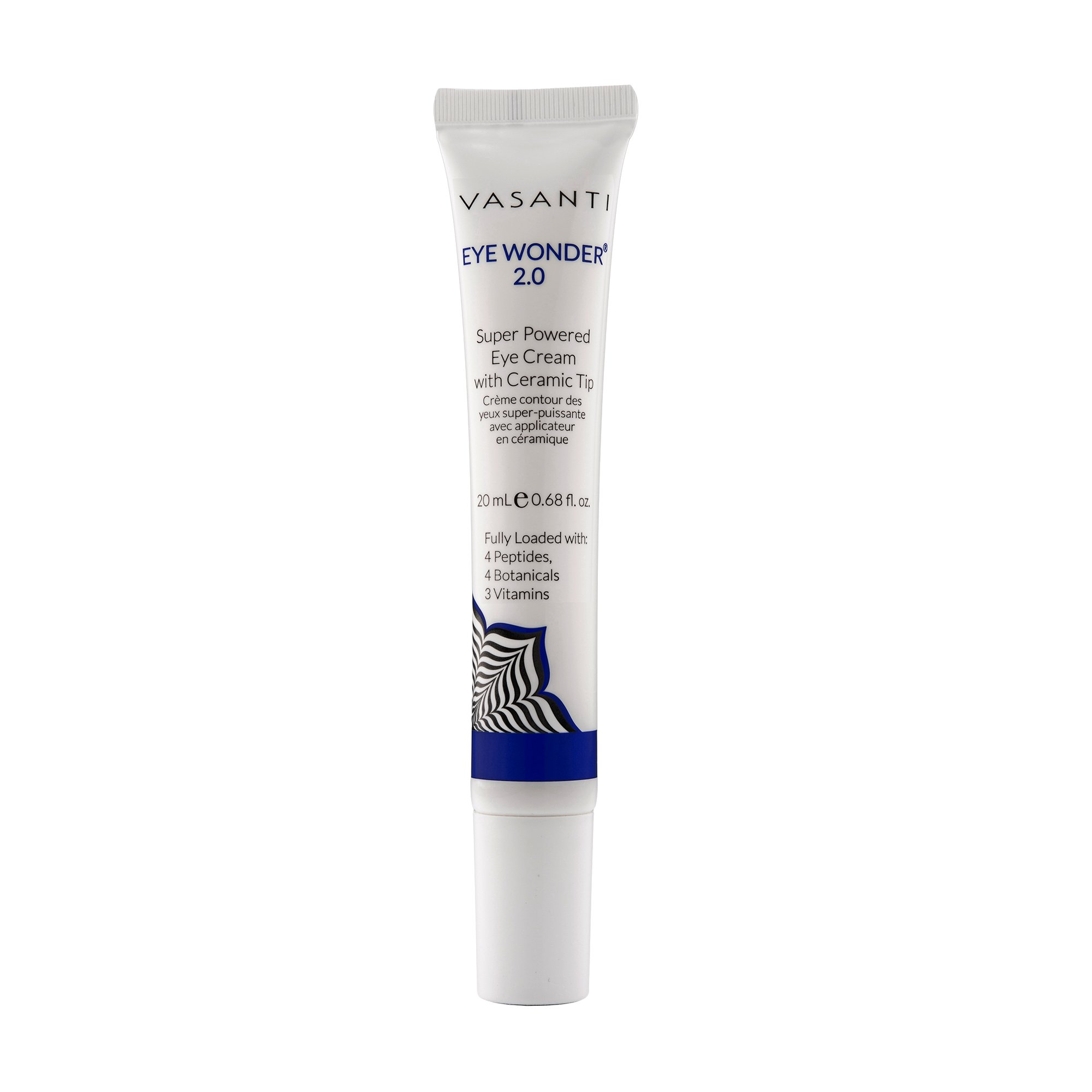 Eye Wonder 2.0 by VASANTI - Super Powered Eye Cream with Ceramic Tip - Paraben Free, Over 95% Natural - Helps with Dark Circles, Wrinkles, Fine Lines (0.68 fl oz.)