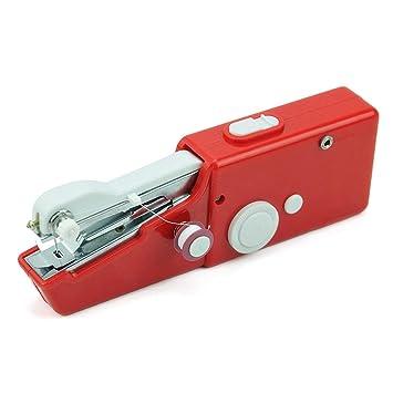 Mini Máquinas de Coser de Mano Portátiles Coser Coser Costura Ropa Inalámbrica Telas Máquina de Coser