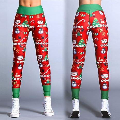 Nordira - Pantalones de Yoga para Mujer, diseño de muñeco de ...
