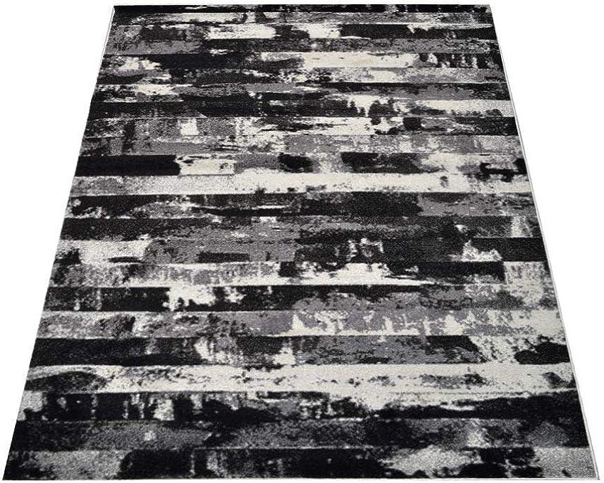 Rugsotic Carpets Machine Made Power Loom Heatset Polypropylene 3 2 X 10 Runner Rug Contemporary Silver M00025
