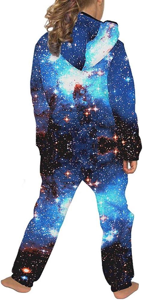 JooMeryer Kids Boys Girls Hooded Playsuit Galaxy Halloween Pajama Jumpsuits