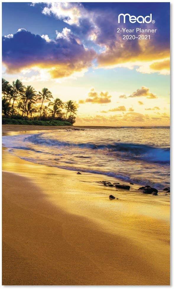 2020-21 2 Year Beach Ocean PLANNER Pocket Purse Small Calendar 2 Yr Monthly Blue