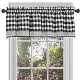 Achim Home Furnishings Buffalo Check Window Curtain Valance, 58' x 14', Black & White