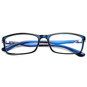 [FREESE] 超軽量16g 伊達メガネ メンズ 形状記憶 ブルーライトカット PCメガネ サングラス UVカット スクエア 【福岡発のアイウェアブランド FREESE】 (Blue)