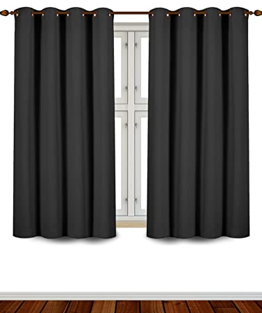 Amazing Utopia Bedding Grommet Top Thermal Insulated Blackout Curtains, 2 Panels,  52 X 63 Inch