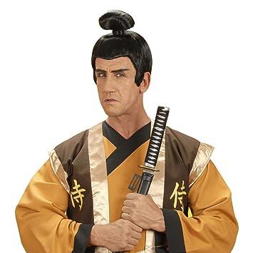 Peluca de Samurai black-japan Asia Herrenperücke Ramos peluca peluca Asia karnevalsperücke guerreros guerreros männerperücke