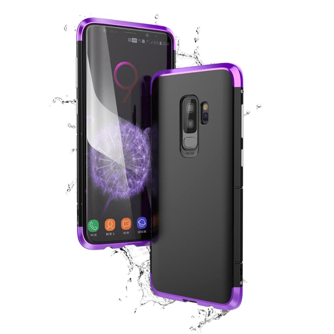 Funda Samsung Galaxy S9 Plus Case Galaxy S9 Carcasa Absorci/ón de Impacto Fibra de Carbono Funda Aleaci/ón Aluminio Metal para Samsung Galaxy S9 Plus//Galaxy S9+ Oro//Negro