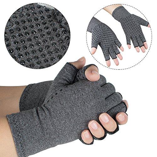 Zinnor Arthritis Gloves Compression Hand Arthritic Joint Pain Symptom Relief Men Women Open Finger (Big) by Zinnor