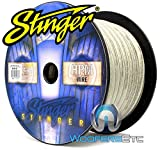 Stinger SXW13C 3 AWG Matte Clear 100 Feet Power Audio Wire Cable