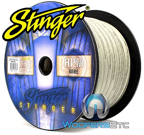 Stinger SXW13C 3 AWG Matte Clear 100 Feet Power Audio Wire Cable by Stinger