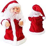 Babbo Natale che canta e balla 18cm Decorazione natalizia Personaggio natalizio Santa Claus