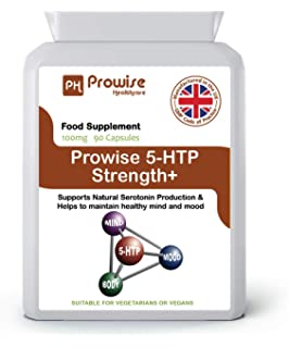 Prowise 5-HTP 100mg - Aminoácido Natural 5-Hidroxitriptófano 90 Cápsulas - Liberación Rápida