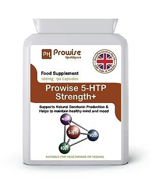 Prowise 5-HTP 100mg - Aminoácido Natural 5-Hidroxitriptófano 90 Cápsulas - Liberación Rápida 5HTP Para Máxima Nutrición y Absorción - Reino Unido ...