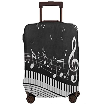 f987e5b96a44 Amazon.com | Abstract Piano Music Note Black Travel Luggage Covers ...