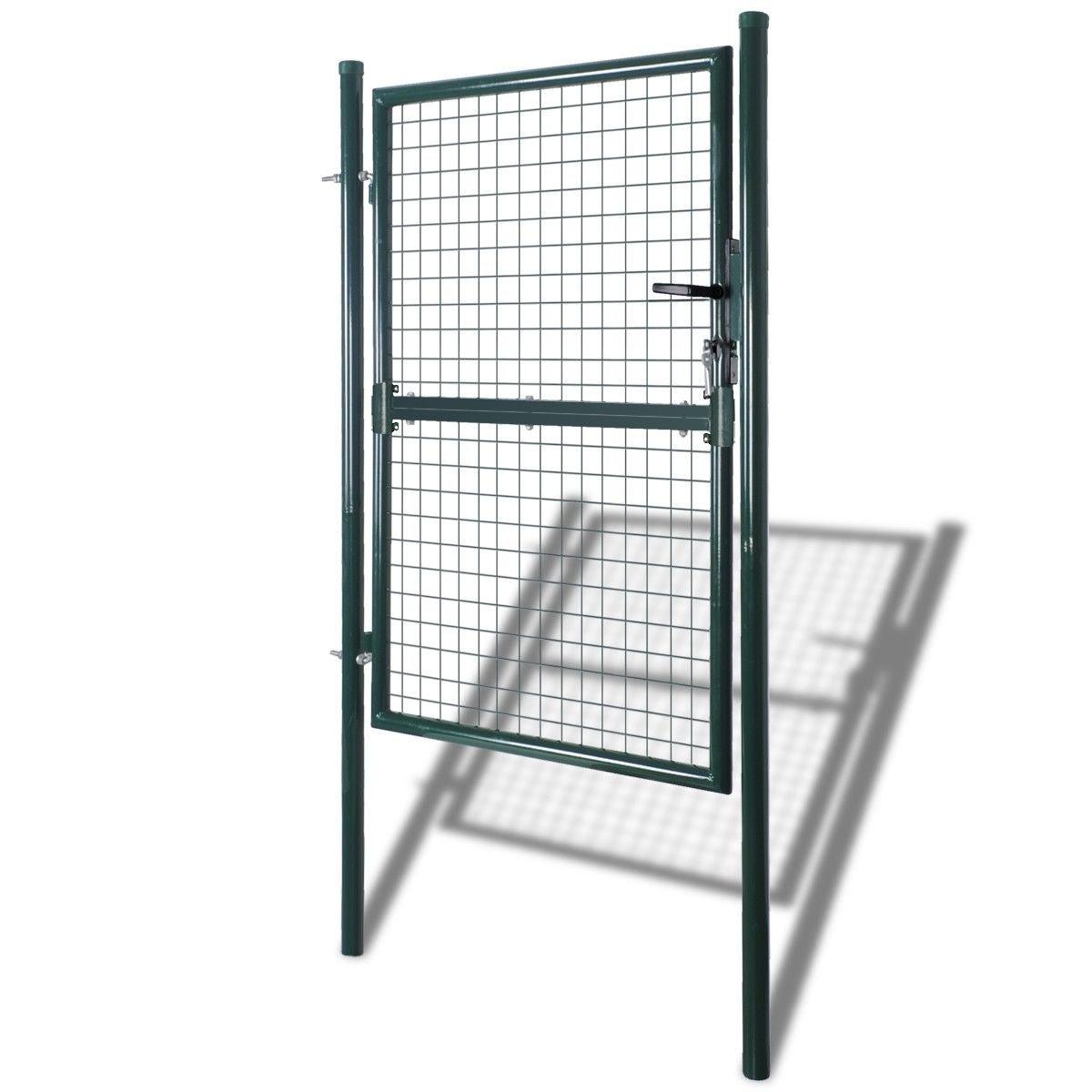 Fencing Walk Thru 39''W x 79''H, Garden Entry Gate Door Fence Galvanized Steel