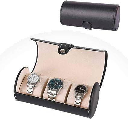 FIONAT Caja para Relojes Caja Joyero Cuero Cilindro Reloj Joyería ...