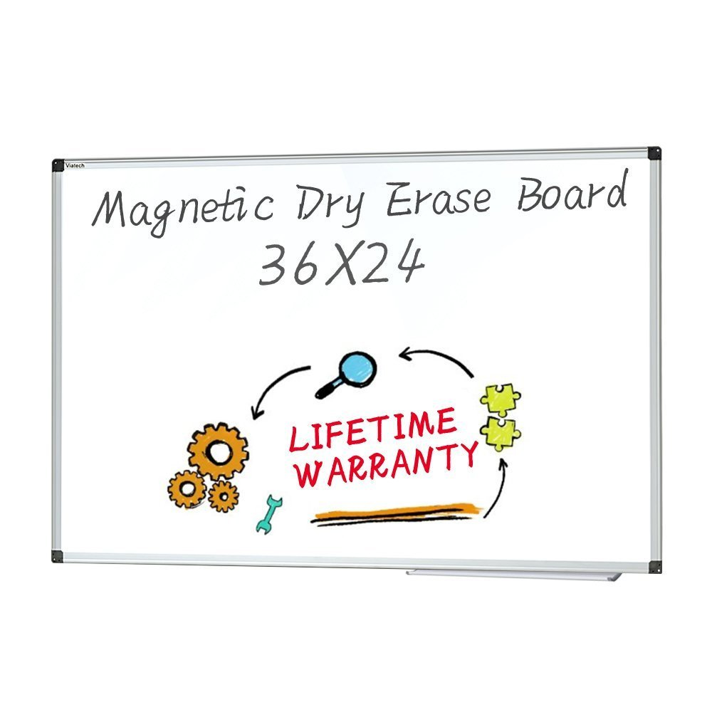 Dry Erase board - Magnetic Whiteboard Large White Board, Wall Mounted Dry Erase Board Aluminum Framed Erase Board with Detachable Marker Tray (36x24)