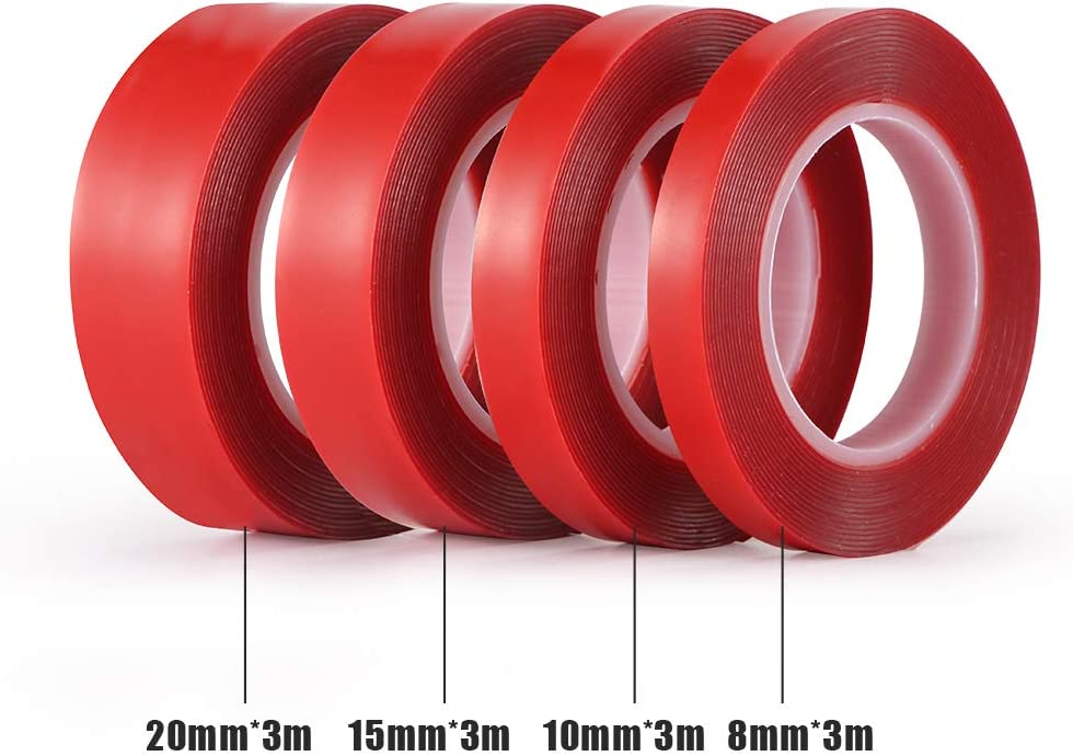 Removable Sticky Mounting Tape Clear Weatherproof Adhesive Sunsbell Double Sided Car Tape Acrylic Tape