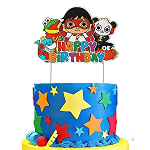 Cake Decorations For Ryans World Birthday Party Supplies Cake Topper Decor