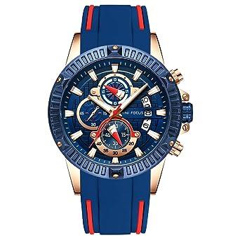 f25100b797 MINI FOCUSファッションビジネスウォッチ メンズカジュアルクォーツウォッチ ミリタリースポーツ防水腕時計 日付表示付き