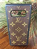 Handmade Samsung Galaxy Note 8 cell phone case covered in repurposed Louis Vuitton canvas