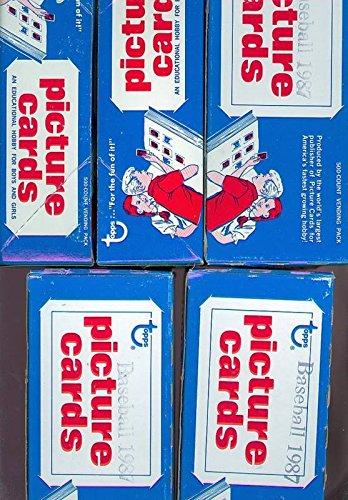 - 5 1987 Topps Baseball Vending Box Complete Set Wax Pack Barry Bonds Rookie Card
