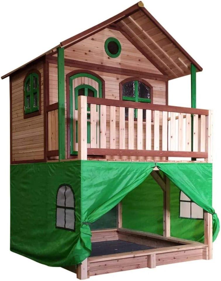 Carpa Casa de Juegos Plástico Verde Tienda Refugio Impermeable AXI A030.186.00