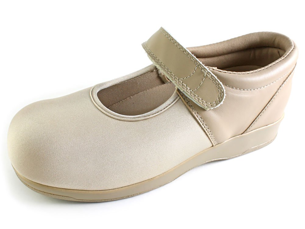 Pedors Womens Mary Jane Neoprene Flats B014PDL84E 12 C/D US Women|Beige