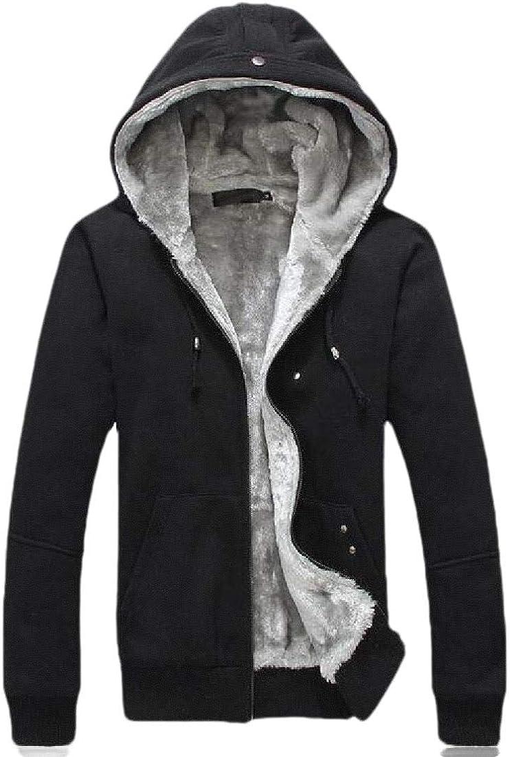 KXP Men Fleece Coat Hooded Plus Size Jacket Sweatshirts