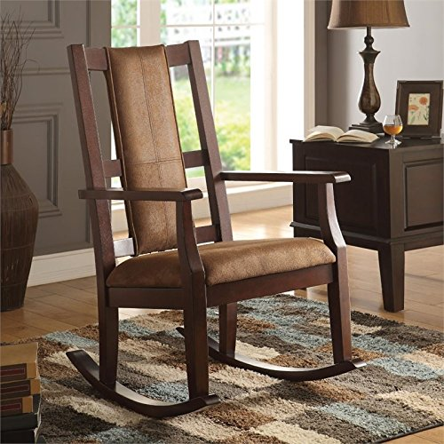 Acme Furniture Chair (ACME Furniture 59378 Butsea Rocking Chair, Brown Fabric/Espresso)
