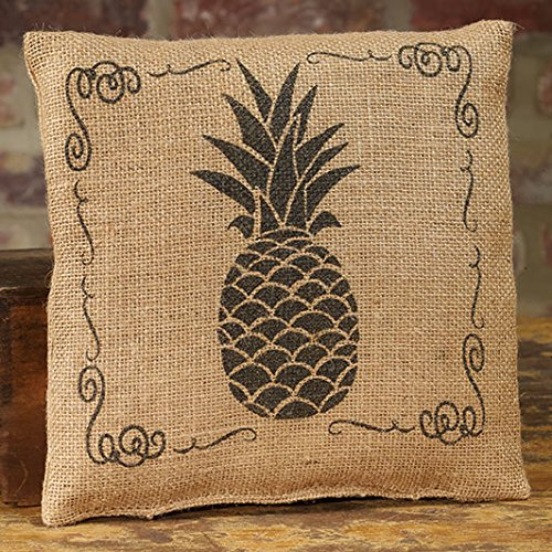 The Country House Collection Small Burlap Pineapple Pillow (8