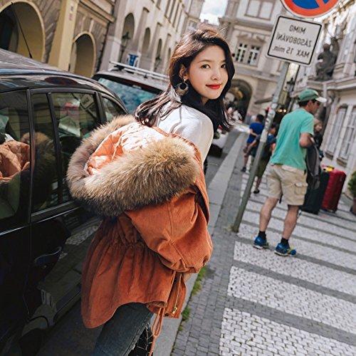Orange 1011 S Xuanku Harajuku d'hiver Les Belles Les Les dames Court Veste De Même La Pac n'est VraiHommest Pas pour Un Service De Pain Moelleux Peignoirs en Coton
