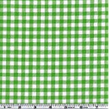 Oil Cloth Gingham Kiwi Green Fabric By The Yard by OilCloth International
