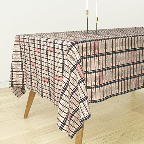 Roostery Tablecloth - Music 60S 70S Elvis Vintage Record Elvis Presley by Pennycandy - Cotton Sateen Tablecloth 70 x 90 - Elvis Presley Record Sales