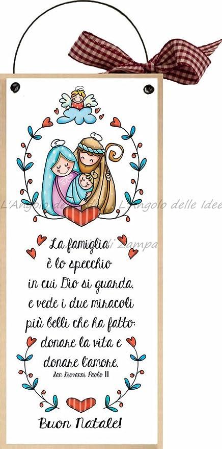 Buon Natale Famiglia.Formelle Con Ferretto Cm 10x24 Buon Natale La Famiglia E Lo