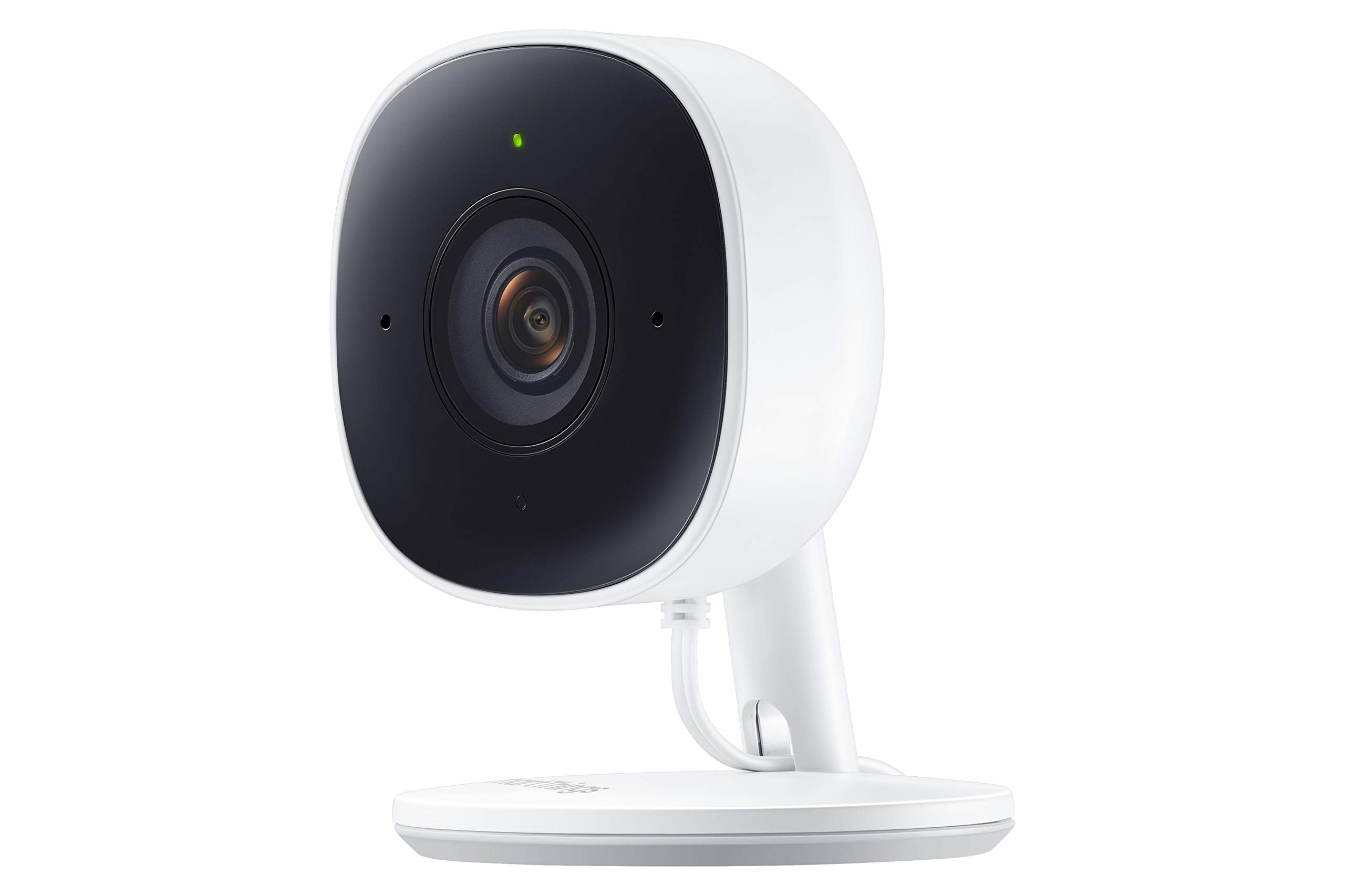 SmartThings Indoor Security Camera (GP-U999COVLBDA), 1080P HD Video with HDR, Night Vision, Advanced Motion Detection, and Two-Way Audio - Black/White by Samsung