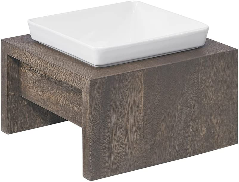 Fossil Bowsers Artisan Diner Single Dog Feeder Small