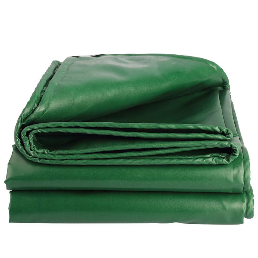 6x10m(19.68x32.8ft) Tarpaulin imperméable à l'eau Heavy Duty, vert Oxford Cloth Sunscreen Tarp Sheet Premium Quality Thicken de plein air Rain Cover for Garden Camping Truck, Multiple Tailles,8x10m(26.24x32.8ft)