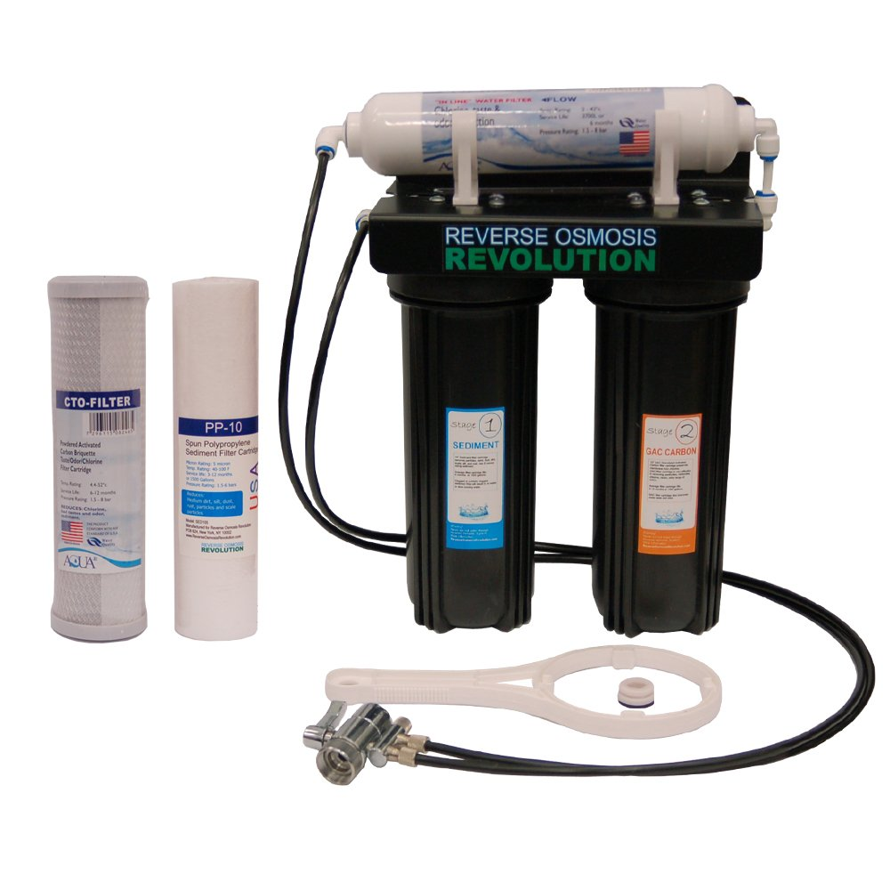 Universal 3-Stage Counter Top / Undersink Water Filter System.