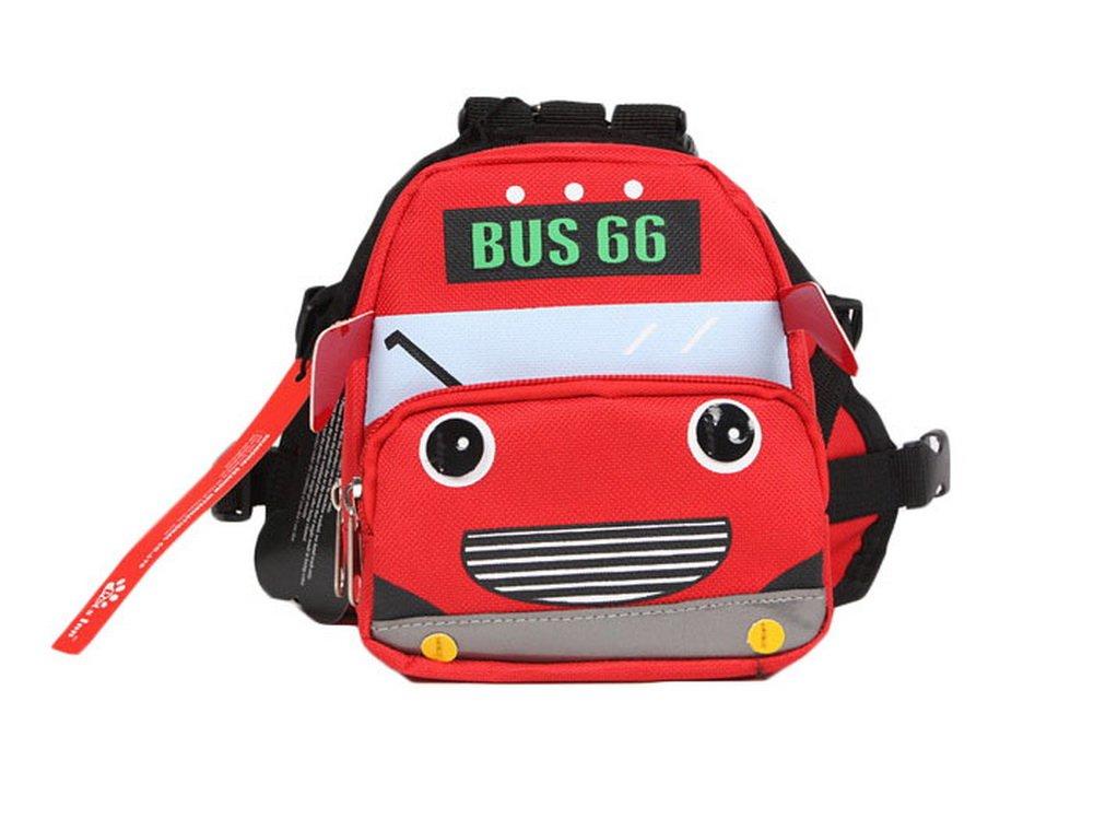 Dessin animé Chien pour animal domestique Chien extérieur Sac à dos de voyage épaules Sac à dos --- Bus Rouge Blancho Bedding